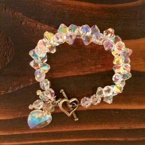 Dazzling heart bracelet